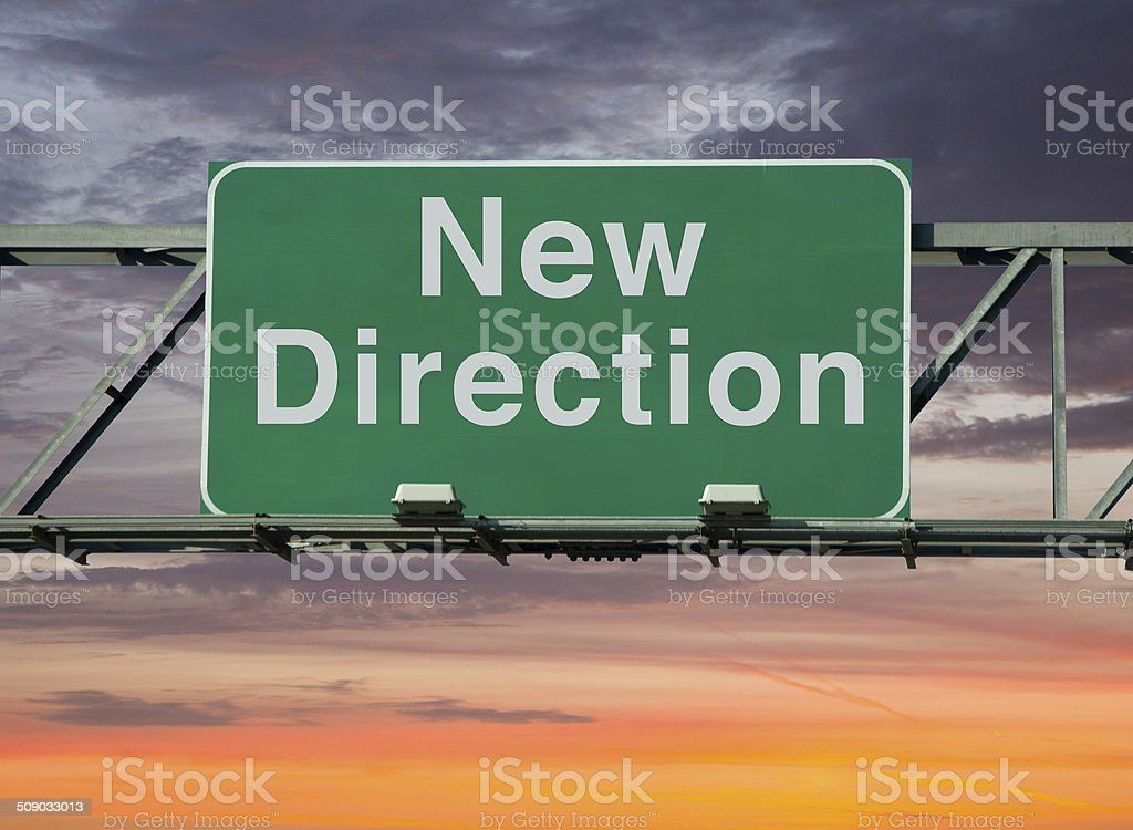 New Direction stock photo