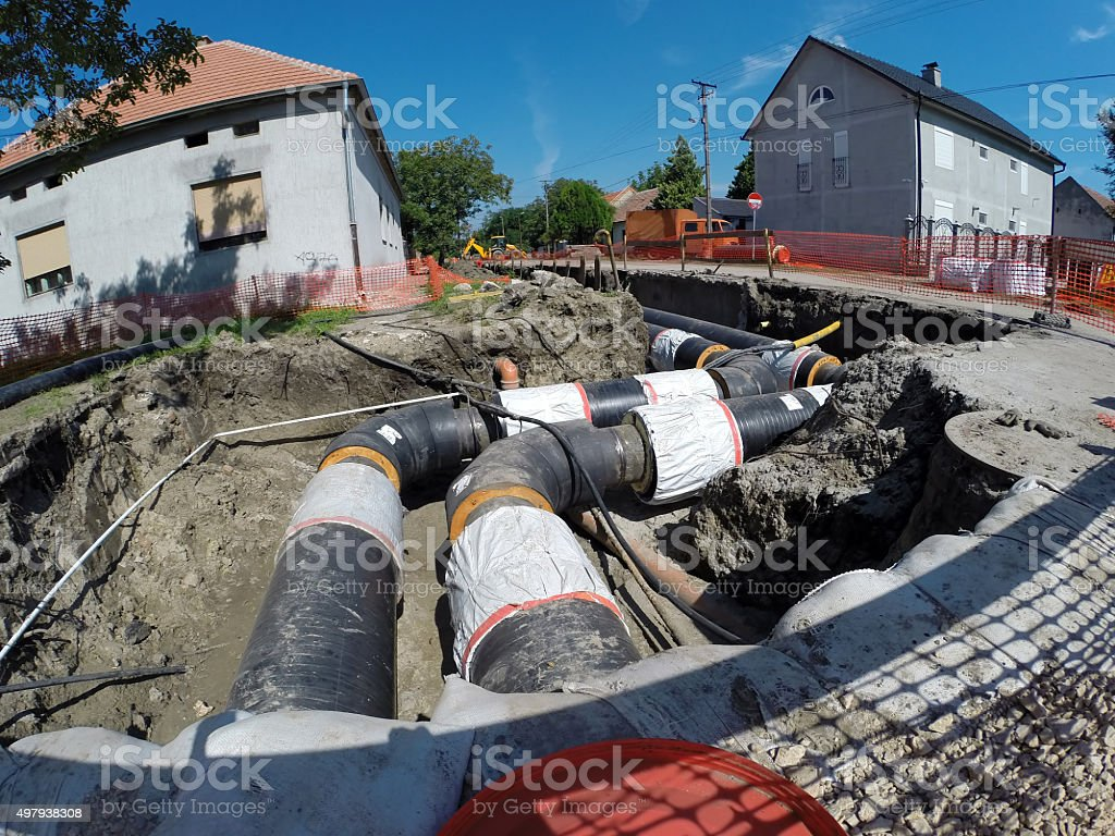 New District Heating System stock photo