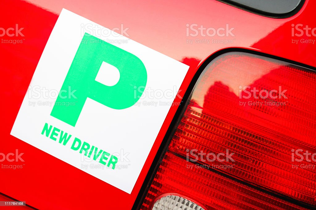 P New Driver royalty-free stock photo