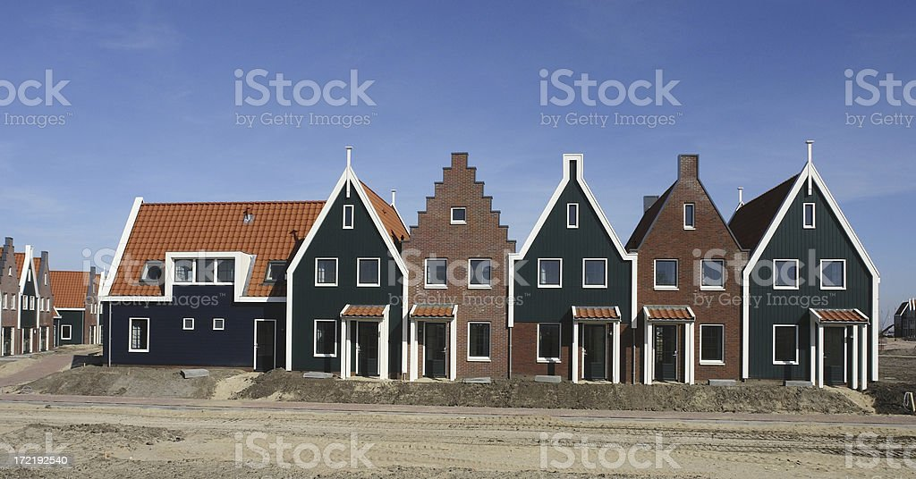 New dutch holiday houses royalty-free stock photo