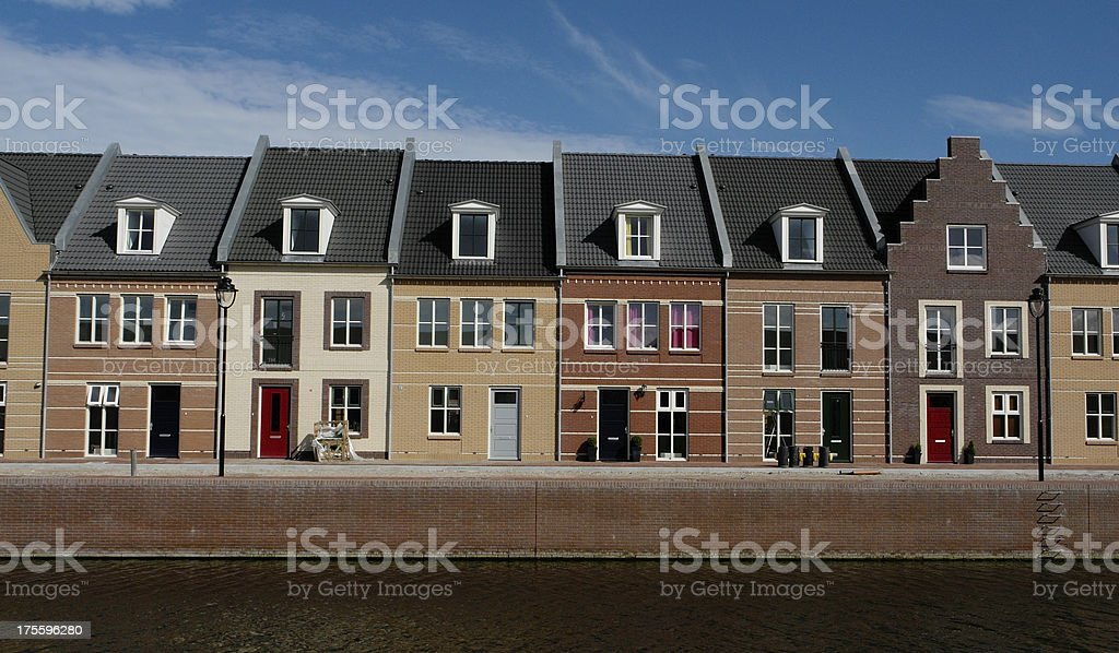 New dutch houses royalty-free stock photo