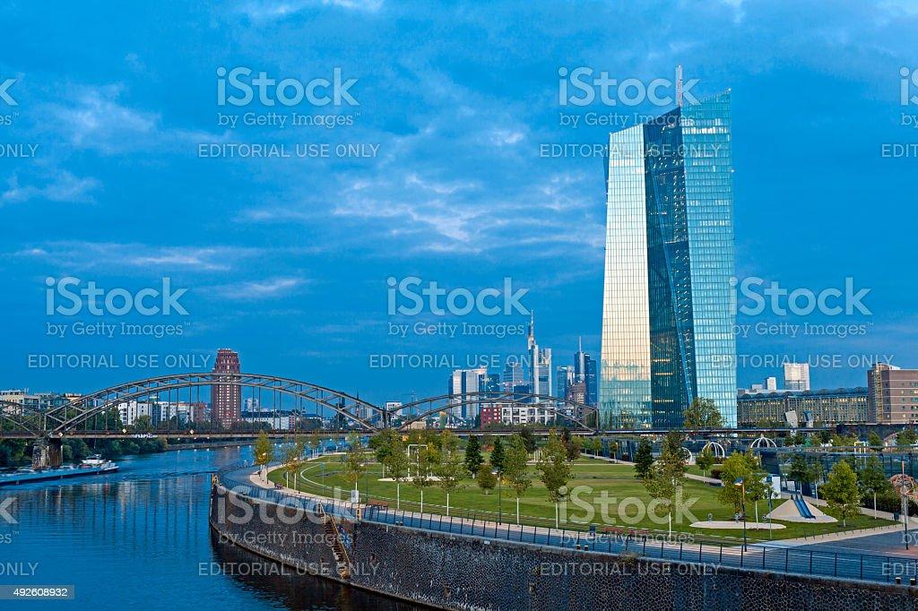 新しい ECB 本社 ロイヤリティフリーストックフォト