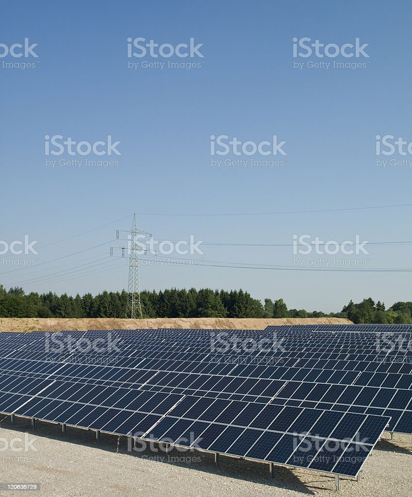 New electricity, solar panels royalty-free stock photo