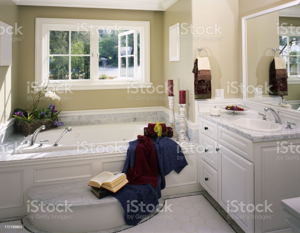 New Elegant Home Bathroom royalty-free stock photo