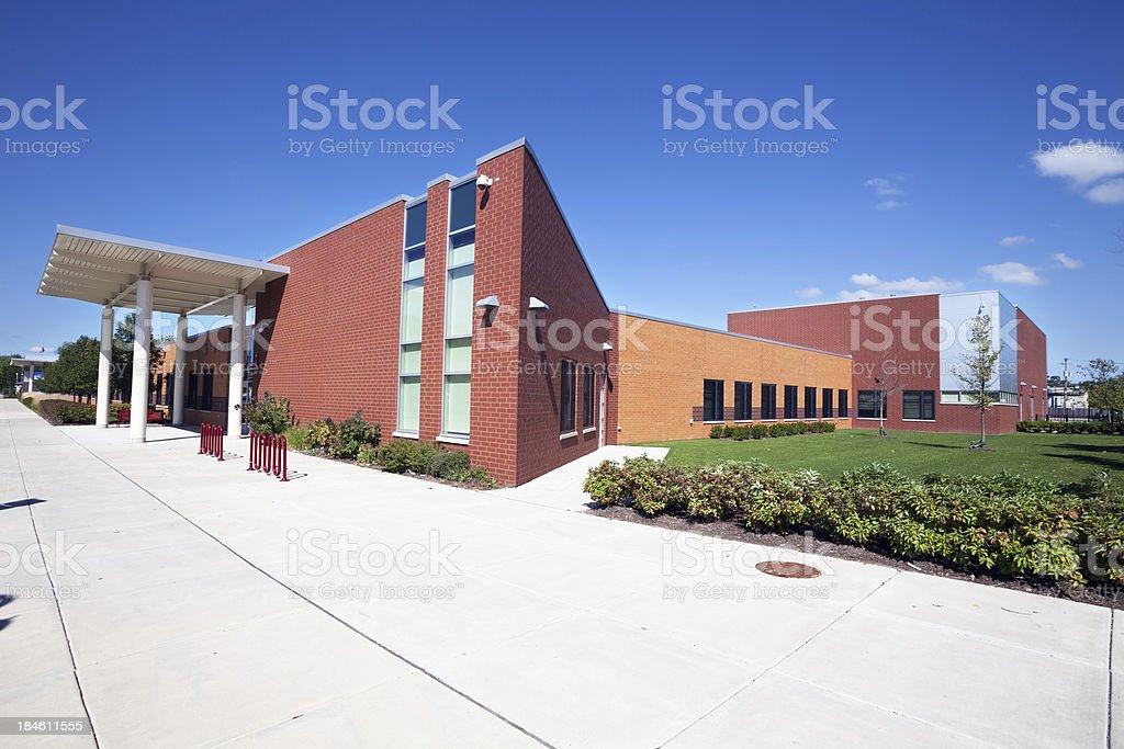 New Elementary School in Roseland, Chicago stock photo