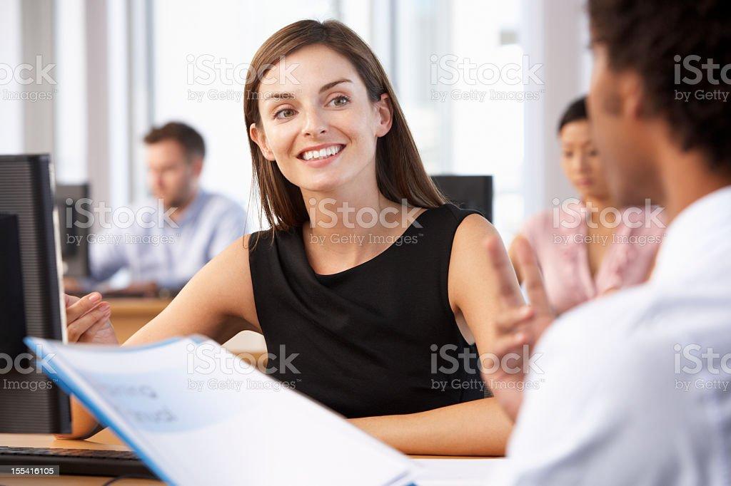 New Employee Starting Work royalty-free stock photo