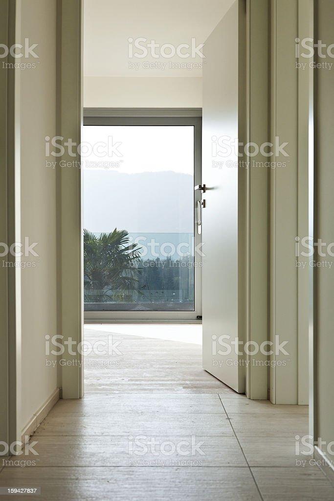 new empty apartment, doors open royalty-free stock photo