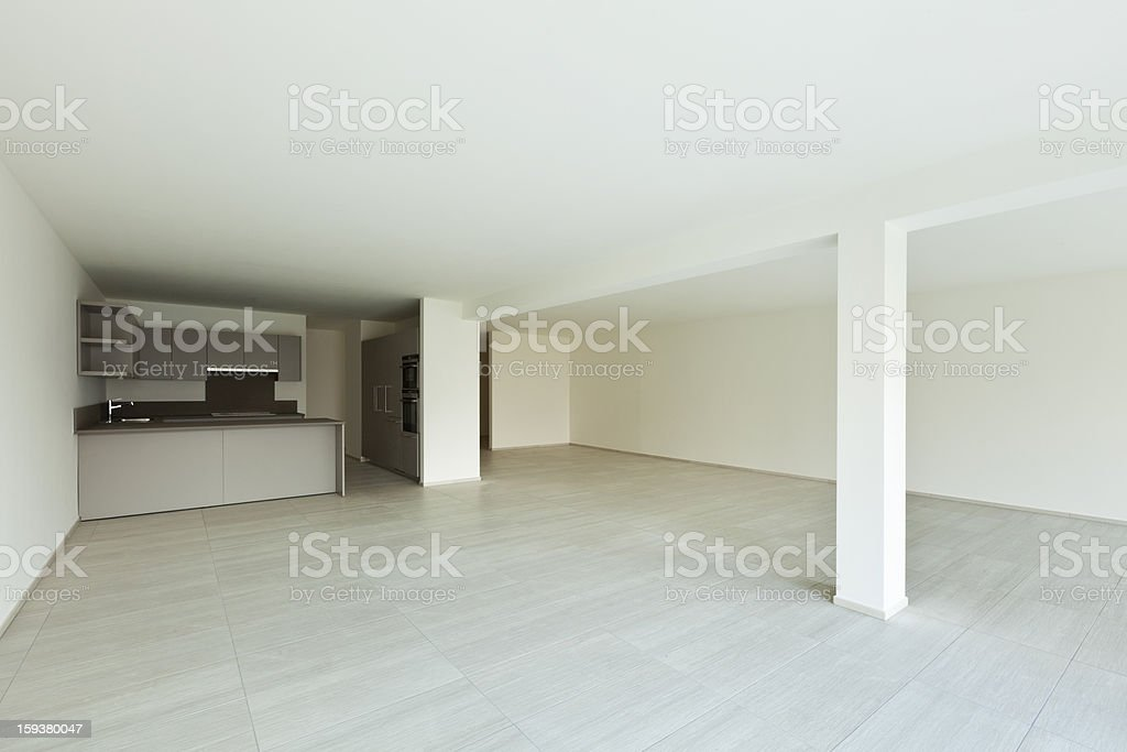 new empty apartment , kitchen royalty-free stock photo