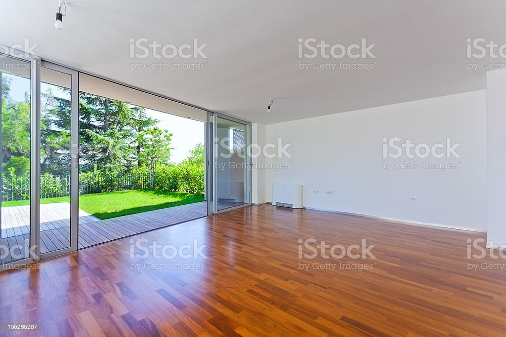 New empty flat stock photo