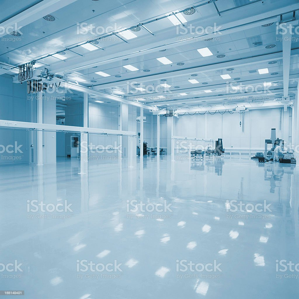 New empty Industrial hall stock photo