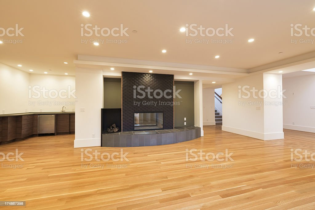 New Empty Living Room royalty-free stock photo
