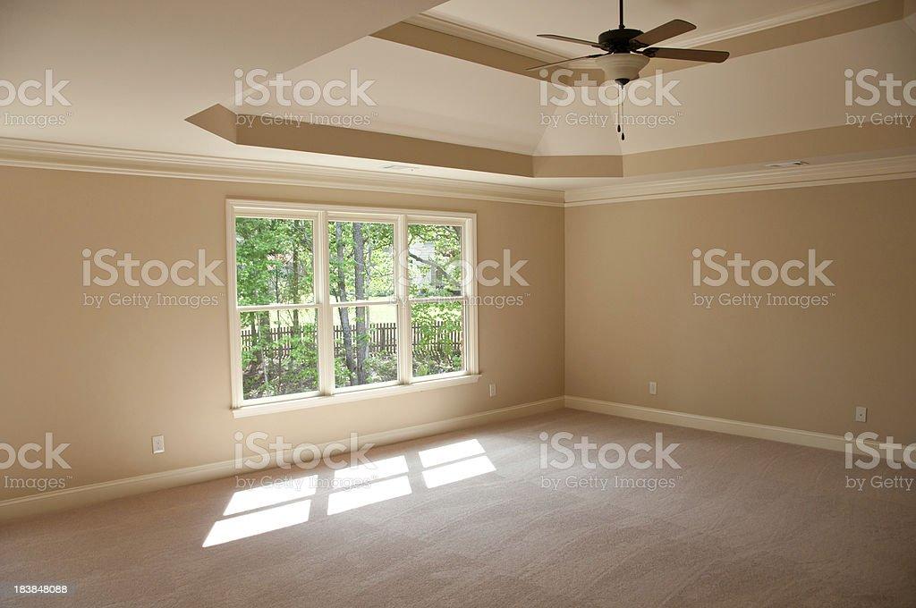 New empty master bedroom royalty-free stock photo