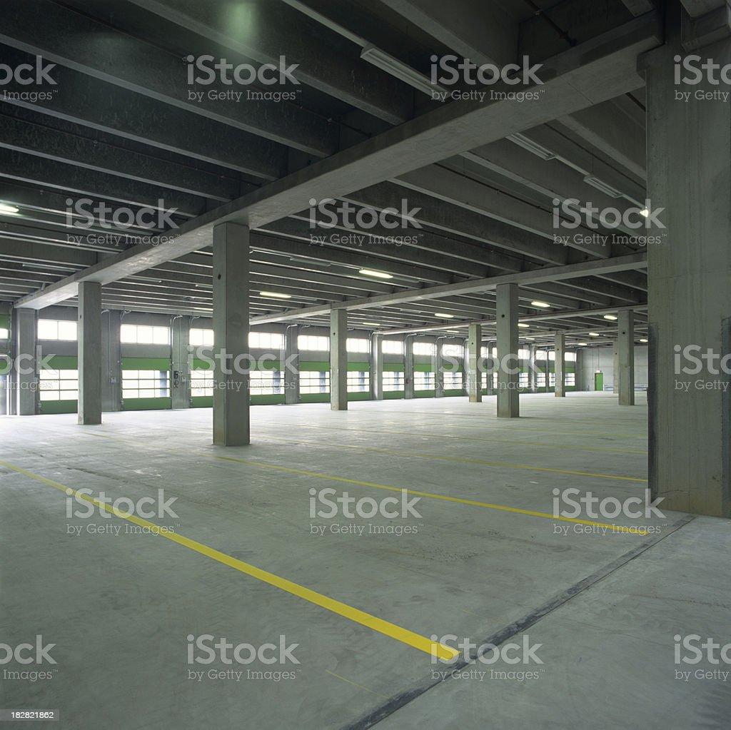 New empty parking lot royalty-free stock photo