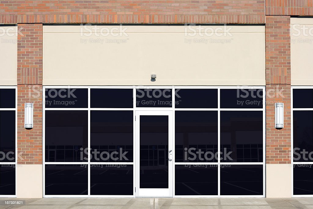 New Empty Store Front stock photo