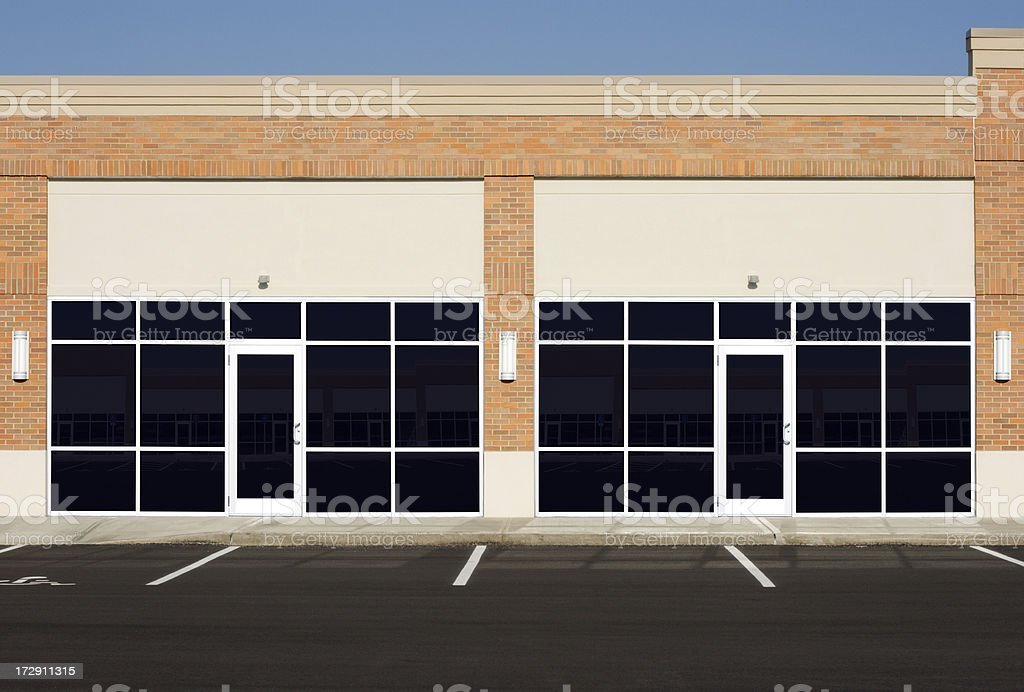 New Empty Store Fronts royalty-free stock photo