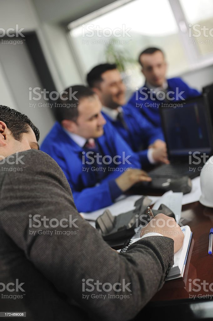 New engineers manager royalty-free stock photo