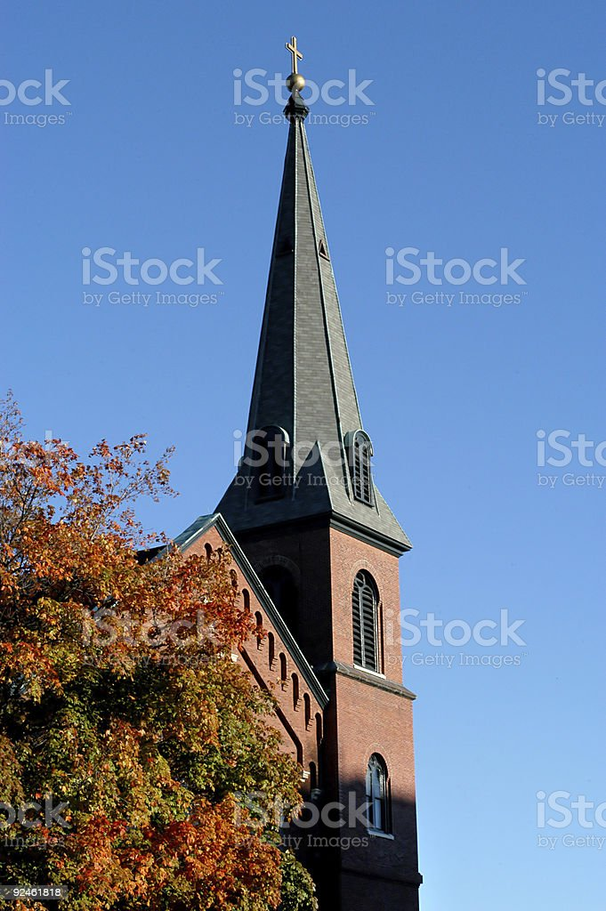 New england church royalty-free stock photo