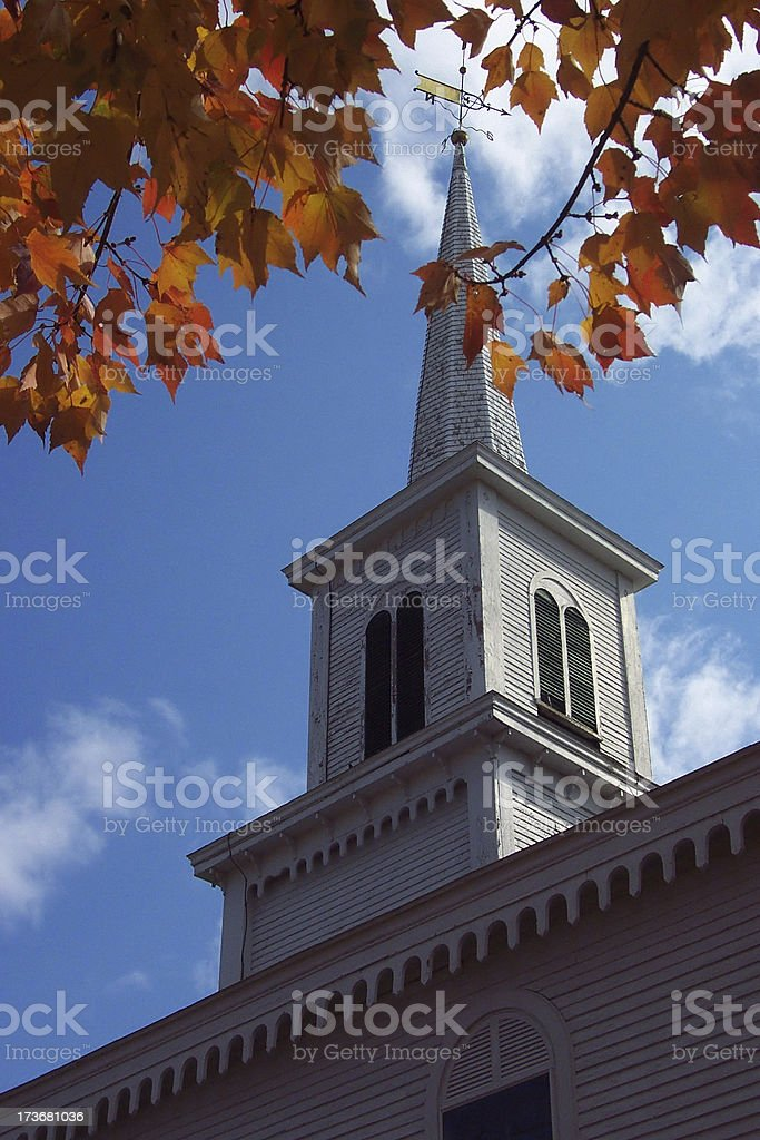 New England Church Steeple royalty-free stock photo