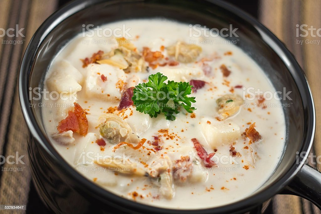 New England Clam Chowder stock photo