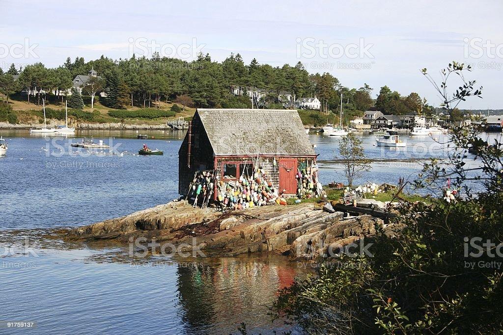 New England coast stock photo