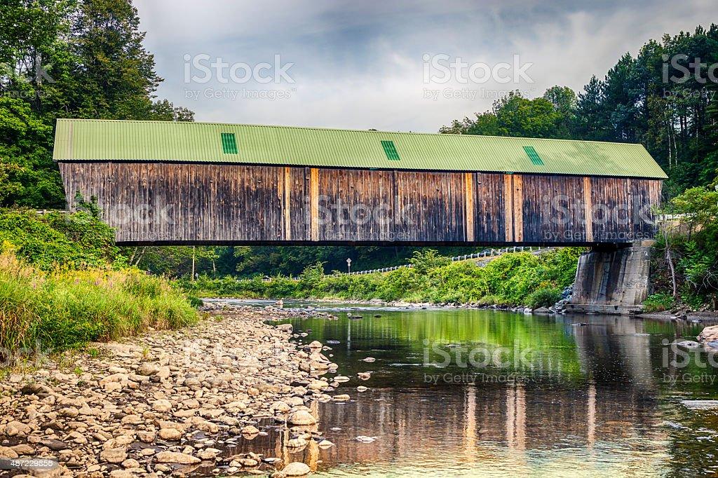 New England Covered Bridge - Lincoln Bridge In Vermont stock photo