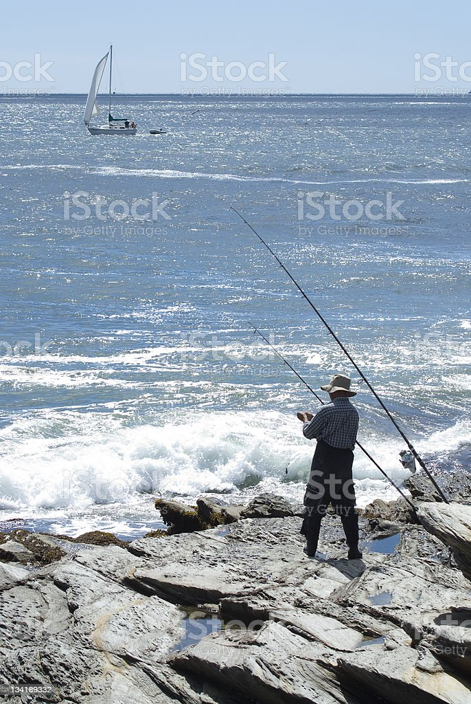 New England Fisher royalty-free stock photo