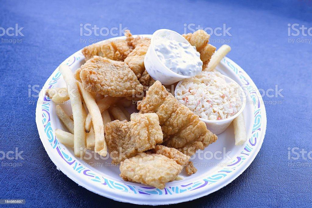 New England Fried Fish Platter stock photo