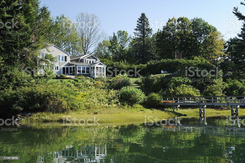 New England home stock photo