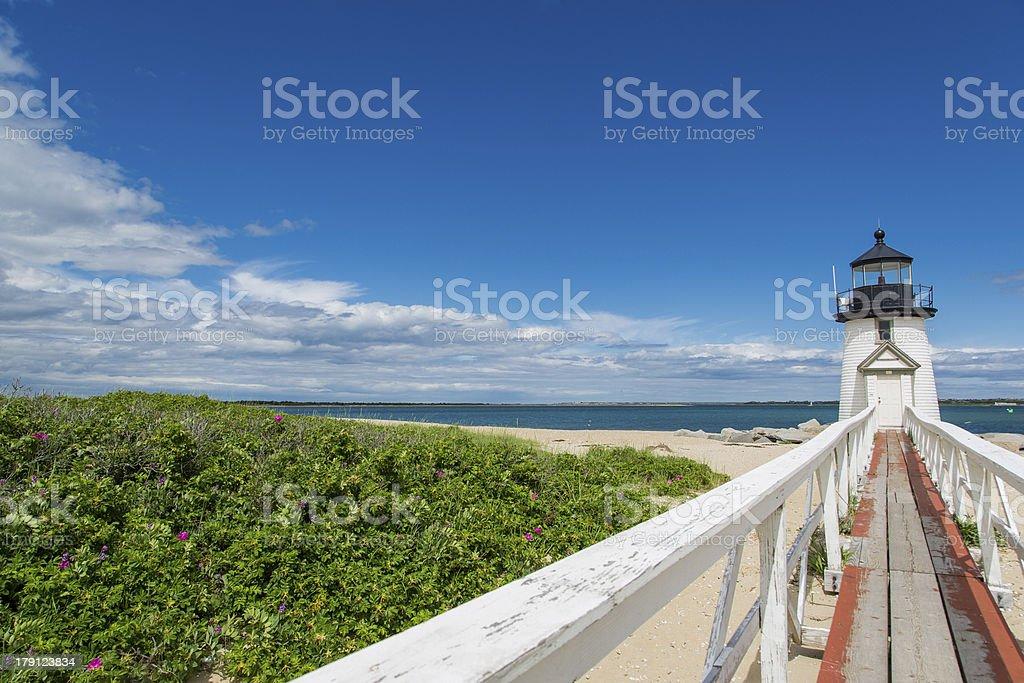 New England Light House stock photo