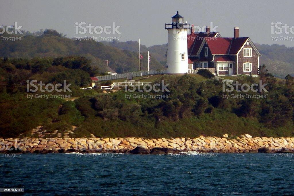 New England Lighthouse stock photo