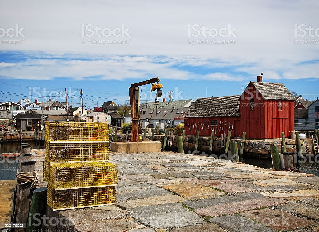 New England Lobster Dock stock photo