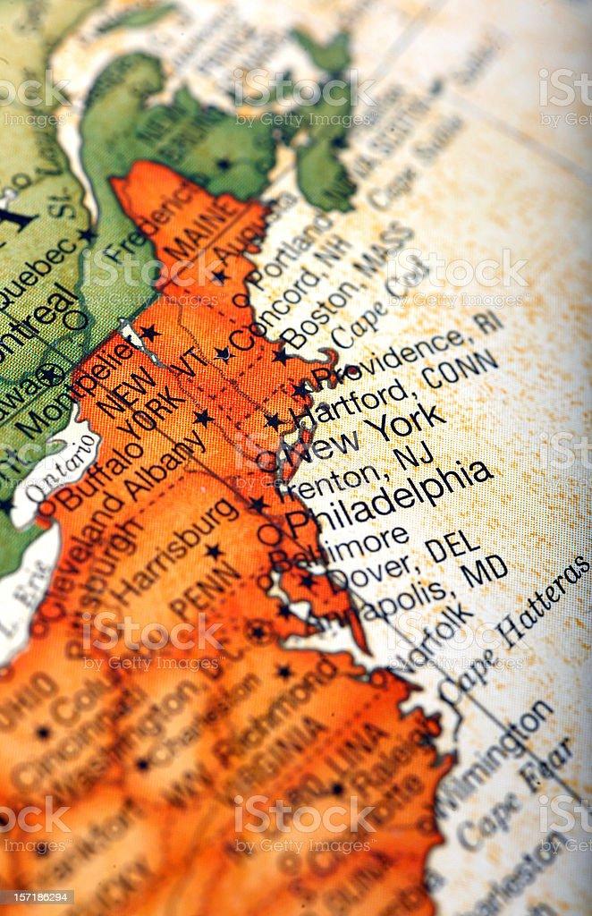 new england map royalty-free stock photo