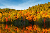 New England Pond with Autumn Foliage