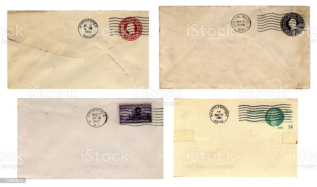 New England postal history (Envelopes) stock photo