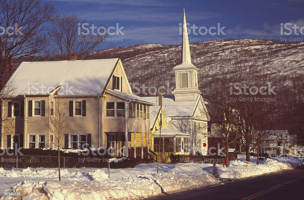 New England Postcard royalty-free stock photo