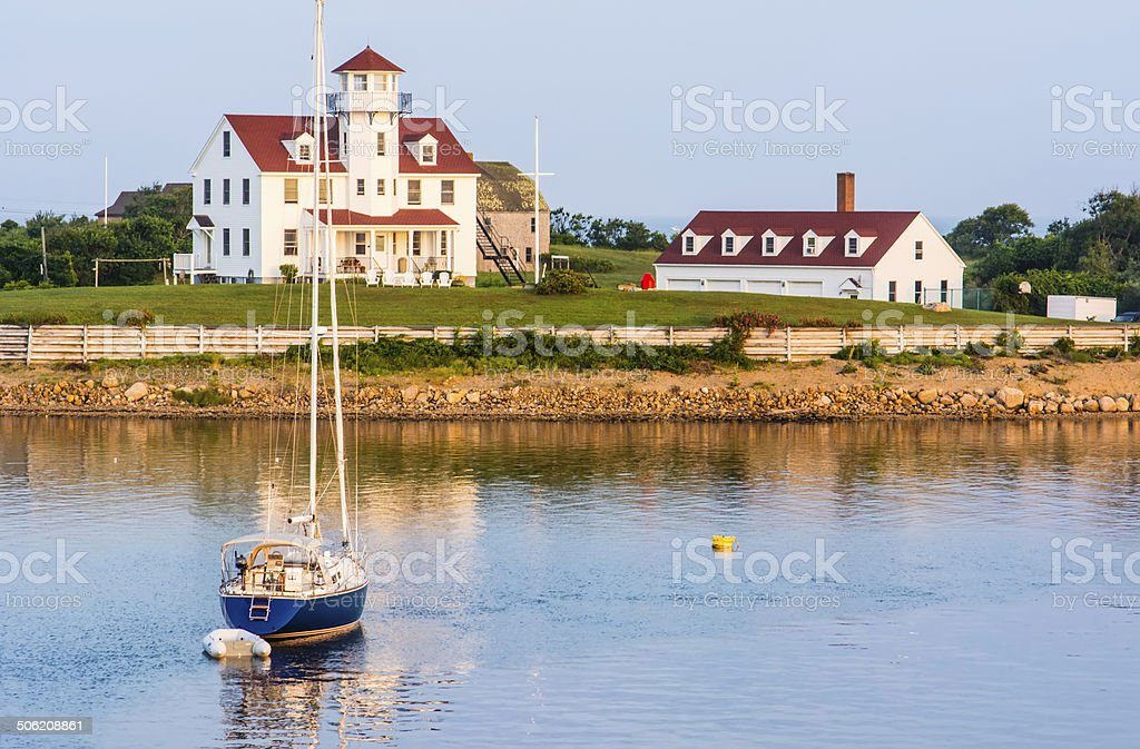 New England scenic stock photo