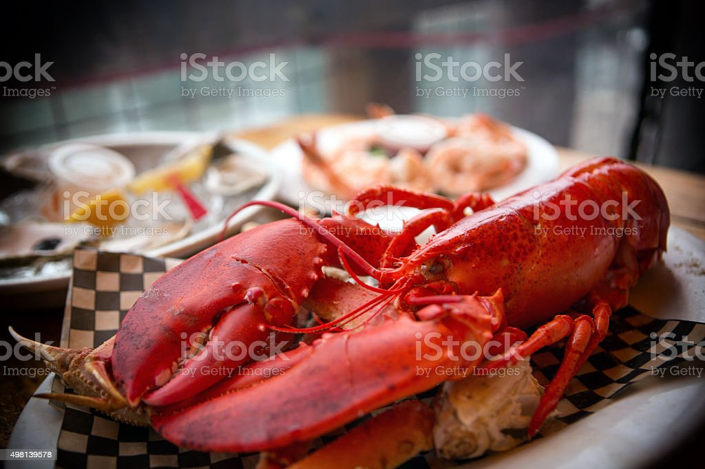 New England seafood stock photo
