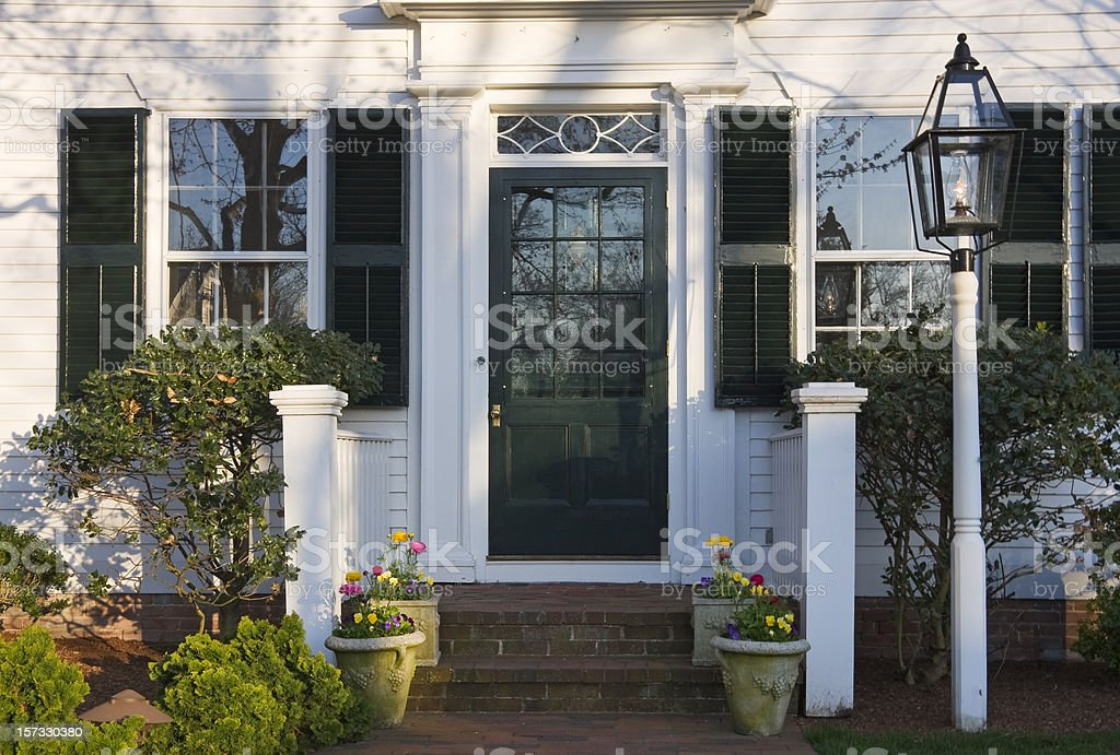 New England Spring Doorway stock photo