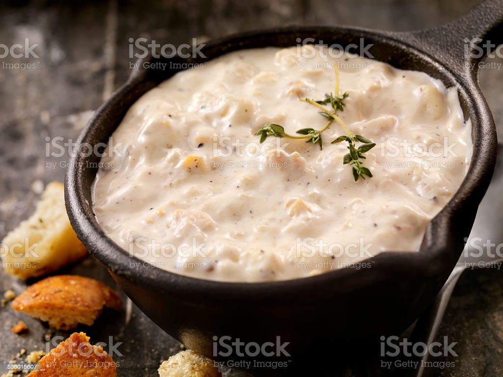 New England Style Clam Chowder stock photo