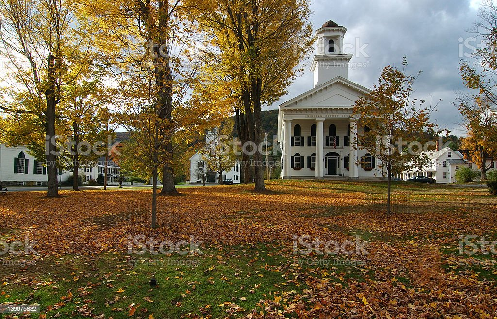 New England Town royalty-free stock photo