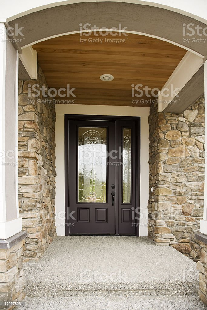 New Entryway and front door royalty-free stock photo
