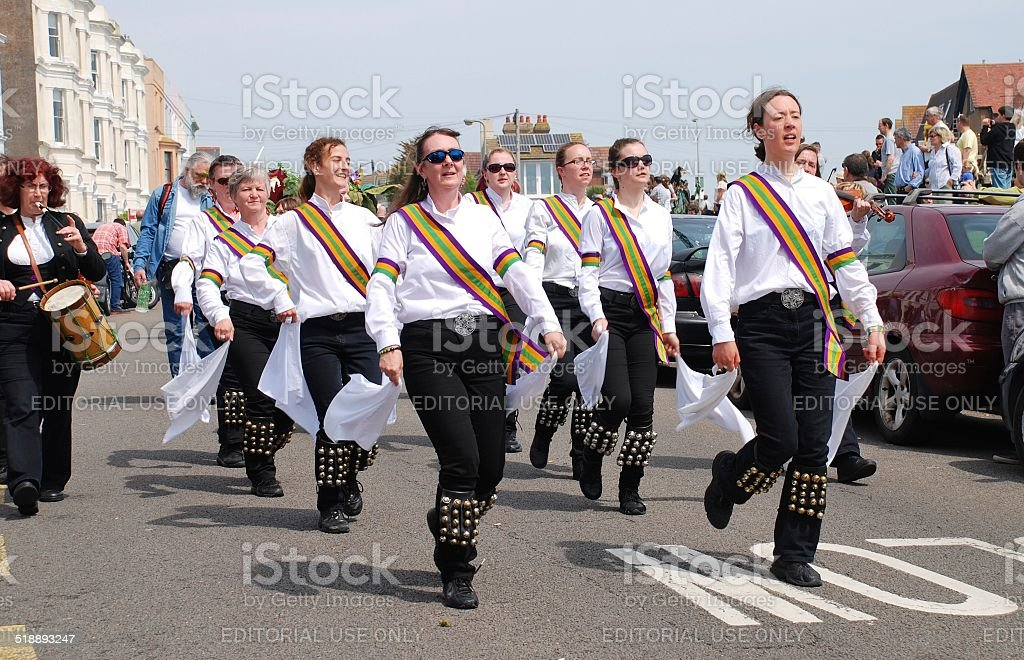 New Esperance Morris dancers, Jack In The Green stock photo