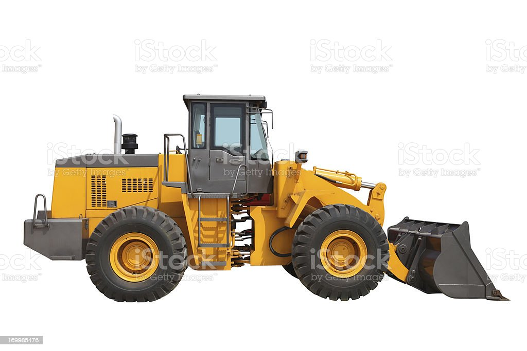 New Excavator on white background royalty-free stock photo