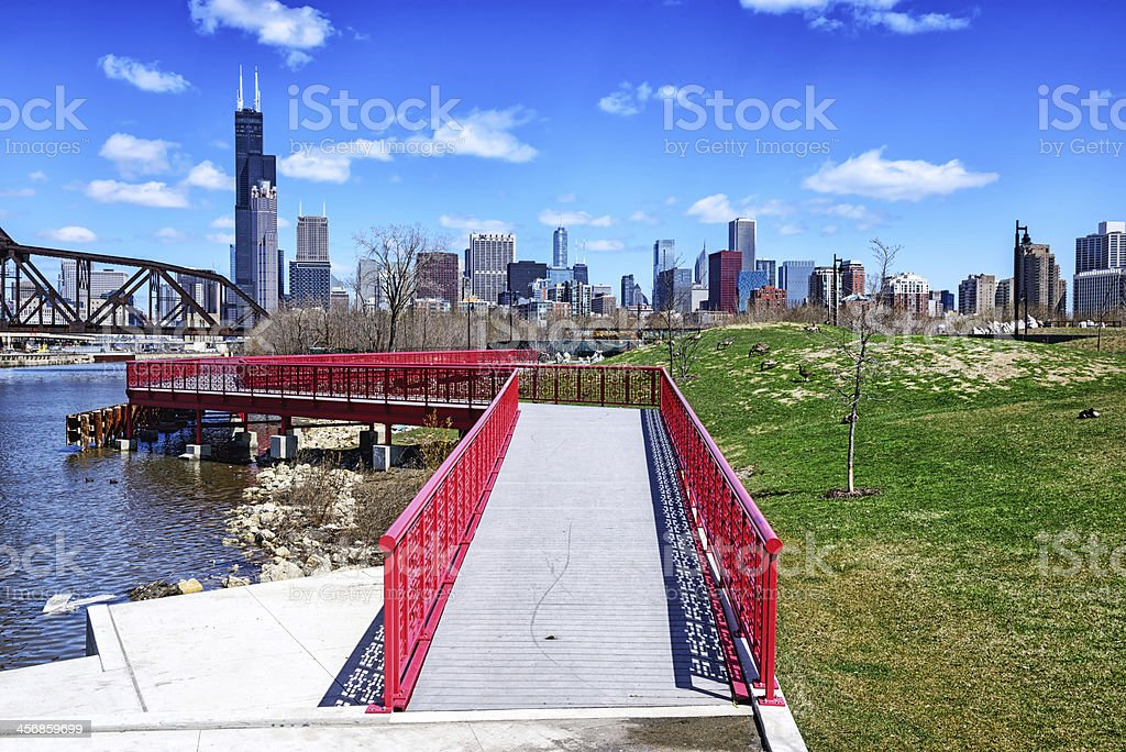 New extension to Ping Tom Memorial Park, Chicago stock photo