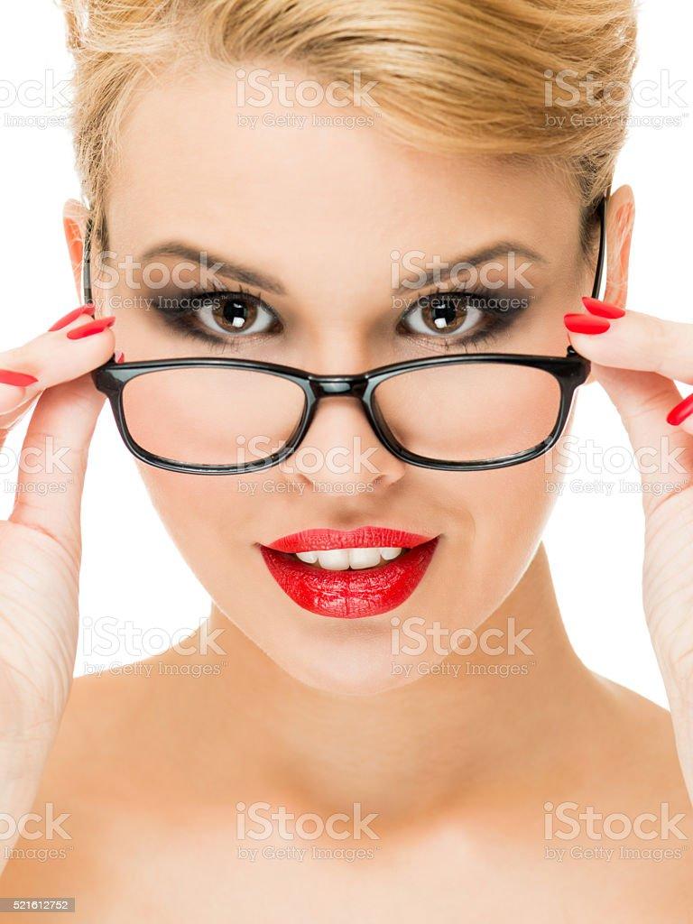 New eyeglasses stock photo