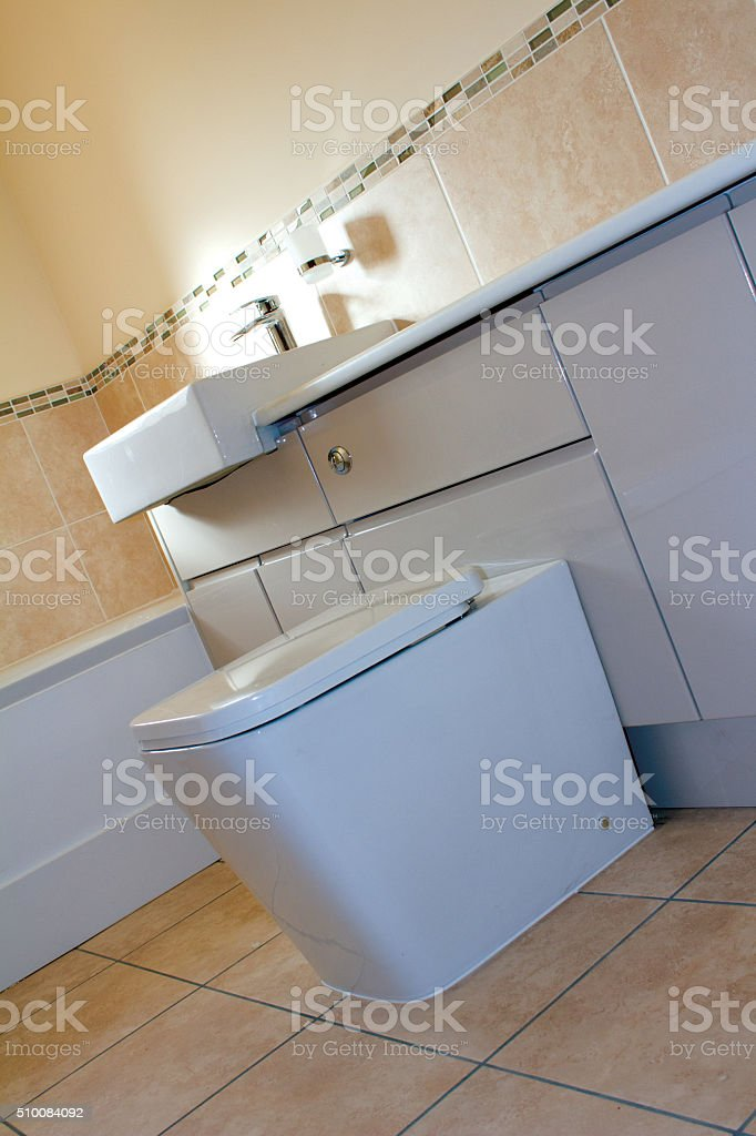New Family Bathroom stock photo