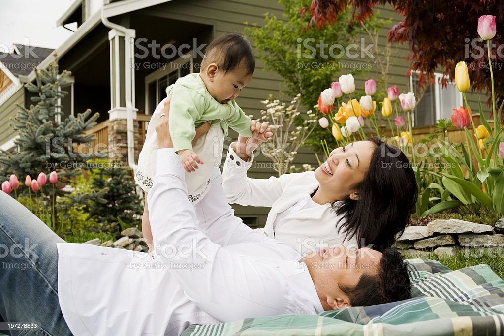 New Family Sharing a Moment stock photo