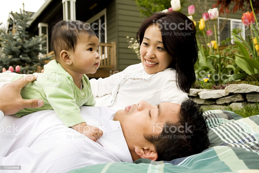 New Family Sharing a Moment royalty-free stock photo