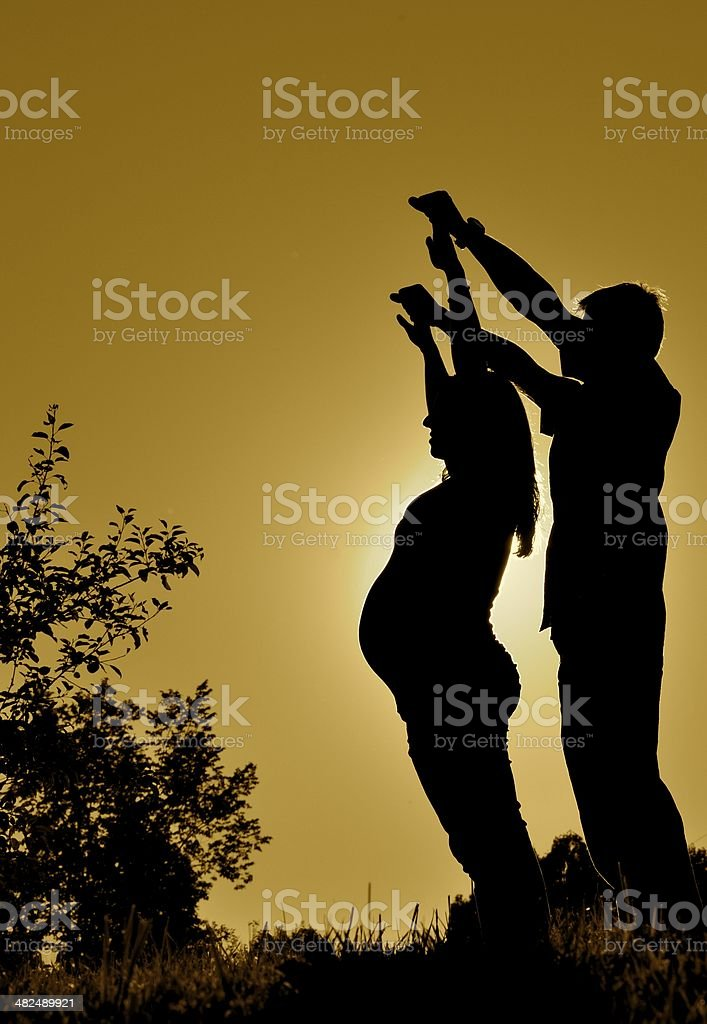New family to be stock photo