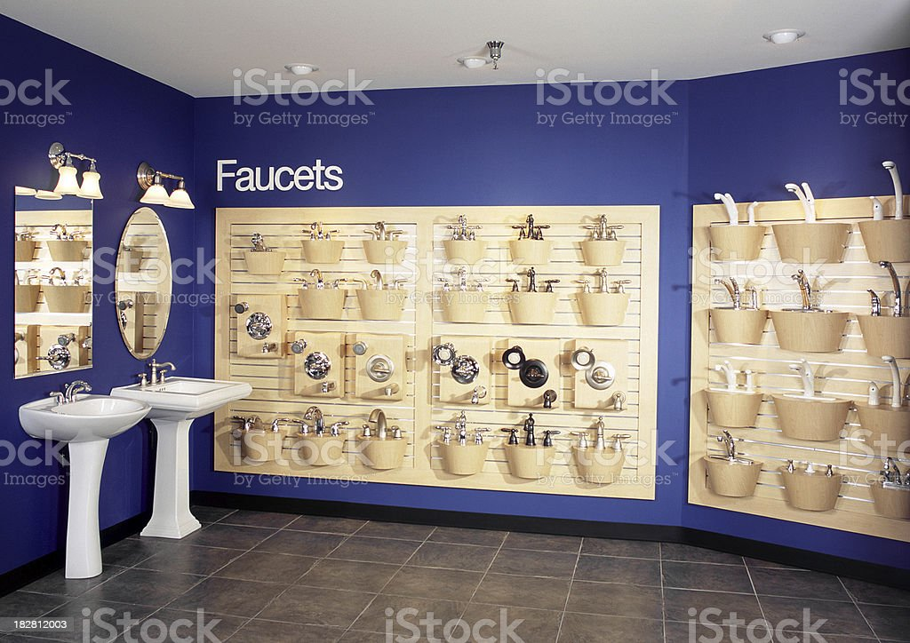 New Faucets Showroom Interior royalty-free stock photo